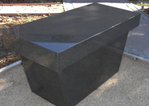 Gray Cremation Bench