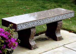 Red Victorian Bench