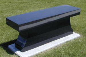 Black Cremation Bench
