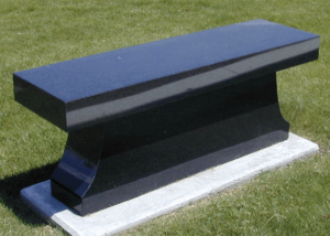 Black Cremation Bench