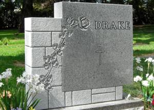 Pearl White Brick Monument