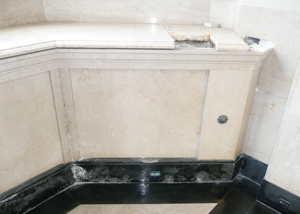 Before Image of Mausoleum Interior Restoration