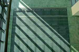 Library Donor Wall