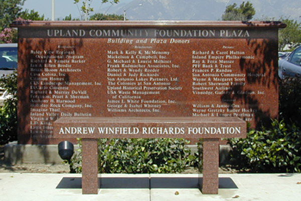 Library Donor Monument and Bench