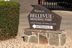 Bellevue Memorial Park Entrance Sign
