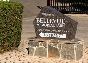 Bellevue Memorial Park Entrance Sign
