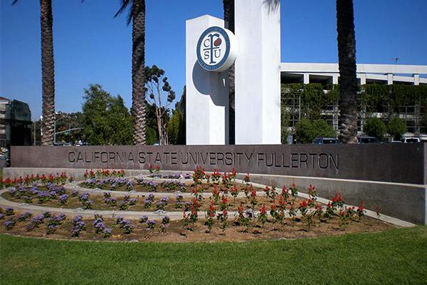 Cal State Fullerton Backlit Sign