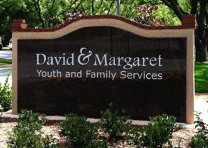 David & Margaret Entrance Sign