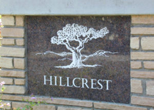 Hillcrest Entrance Signage