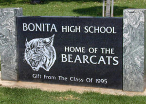 Bonita High School Sign