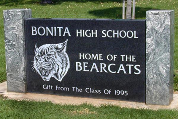 Bonita High School Sign