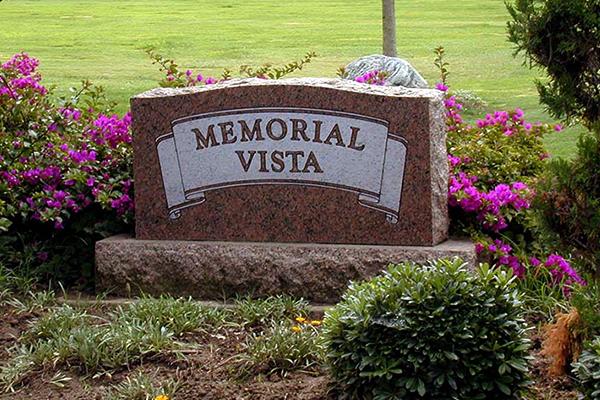 Memorial Vista Sign